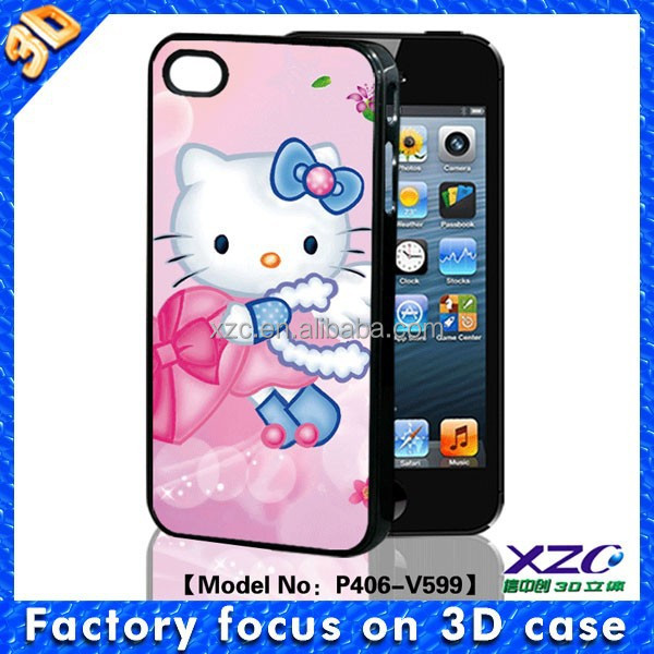 2015 New Fashion Fantastic 3D Cheap Hello Kitty Phone Case for Iphone 4/4s