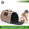 BSCI QQFactory Large Durable Canvas Airline Approved Pet Carrier for Small and Medium Dogs Cats