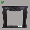 Hand carved Black Marble Fireplace Mantel in stock