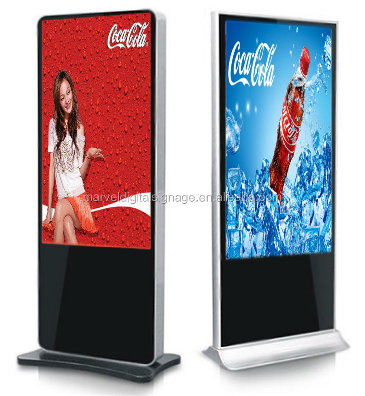 "Hotsale 46"" remote control full hd floor stand wireless digital signage media player"