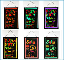 Best selling products 3000mah lithium battery powered led blackboard neon sign menu board