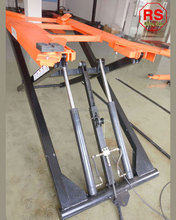 Portable Scissor Hydraulic Two Cylinder Car Lift Cheap Price
