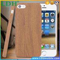 Brown Wood Skin Case for iPhone 5 5S Ultra Thin PU Plastic PC Protective Cover for Apple iPhone5 5S Back Shockproof Stylish Case