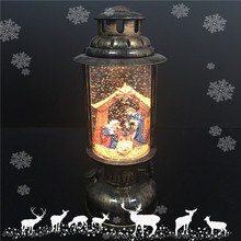Battery-oparated Led Christmas Hanging Lantern with Nativity Scene