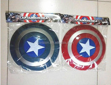 The Avenger 32cm Captain America Shield Light-Emitting & Sound Cosplay property Toy plastic shield Red/Blue