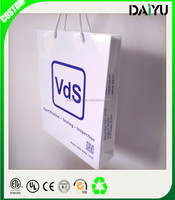 New design white gift paper bags for shopping