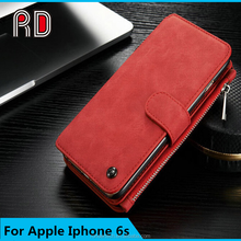 2015 best selling multifunction leather wallet phone case for iPhone 6, universal smart phone wallet style leather case