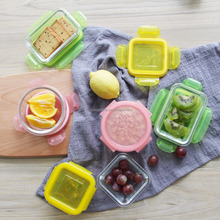 Lunch Cubes Glass Food Containers Airtight, watertight, leakproof seal prevents messes