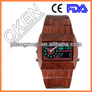 Name brand wholesale bamboo watch 2015