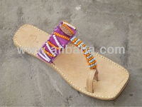 beaded kolhapuri chappal