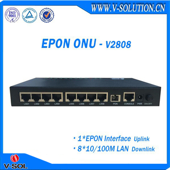 Latest Design fiber optic fast ethernet ftth epon 8FE onu