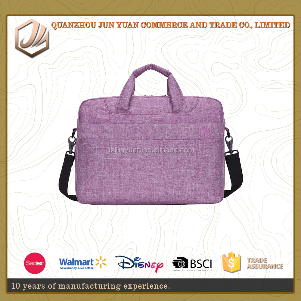Fashionable easy carry 14 15inch laptop bag for women