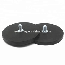 D22/31/43/66/88mm Coated Neodymium Magnet Covered in Protective Rubber Casing