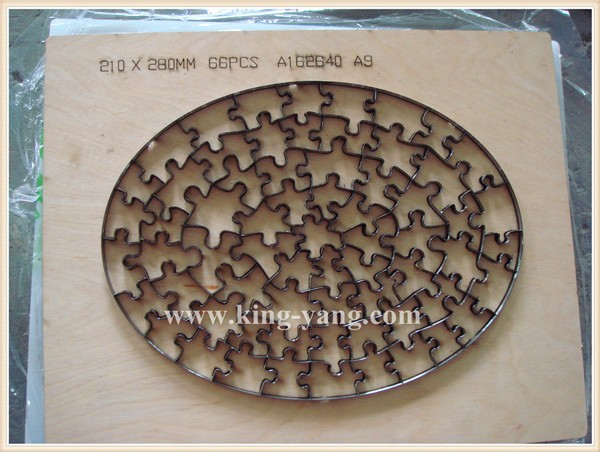 "Steel rule jigsaw puzzle die 5""x7""-35pcs Special DESIGN"