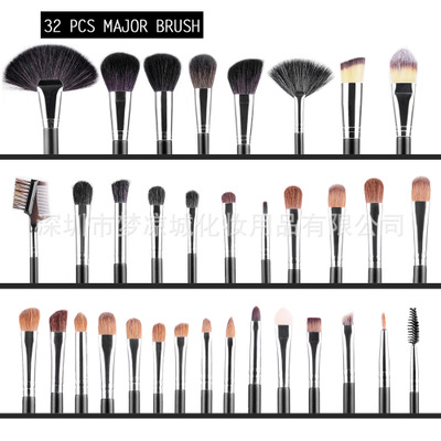 32Pcs Makeup <strong>Brushes</strong> Professional Cosmetic Eyebrow Shadow Make Up <strong>Brush</strong> Set Kit