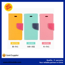 China manufacturer in low price leather flip cover mobile phone case for e3