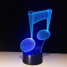 ZOGIFT Remote/Touch light 3D LED Lighting Musical Note LED Night Light USB Table desk Lamp Bedside Nightlight as special Gift
