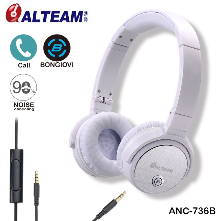 Professional cute super bass stereo anti noise on ear headphone for girls