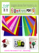 Hot sale good quality non woven fabric color felt manufacturer