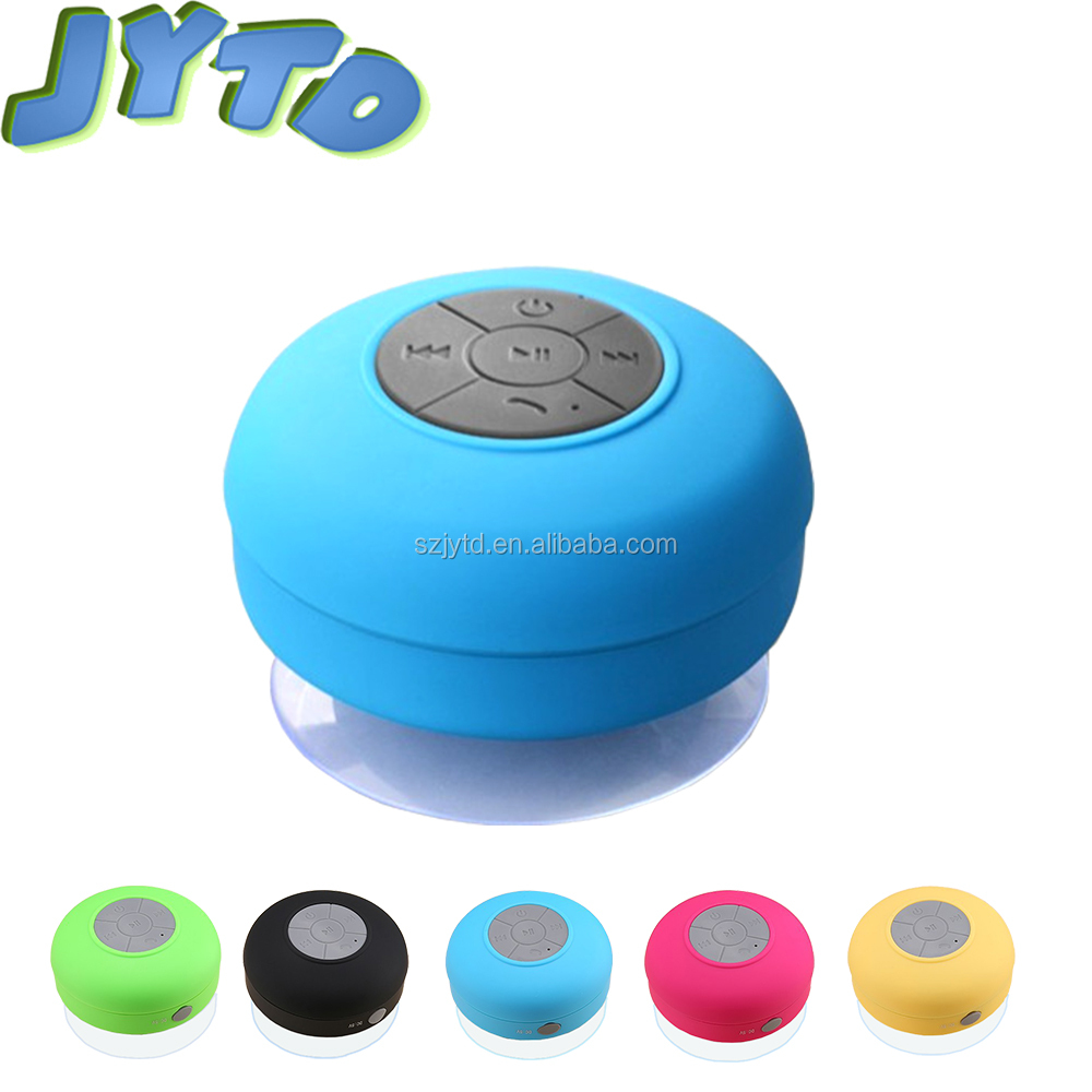 Portable Stereo bathroom Car Shockproof Outdoor Use Suction Cup Water Resistant wireless bluetooth waterproof shower speaker