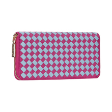 Handcrafted Weave Cell Phone Case Ladies Purse Rfid Credit Card Holder Leather Wallet
