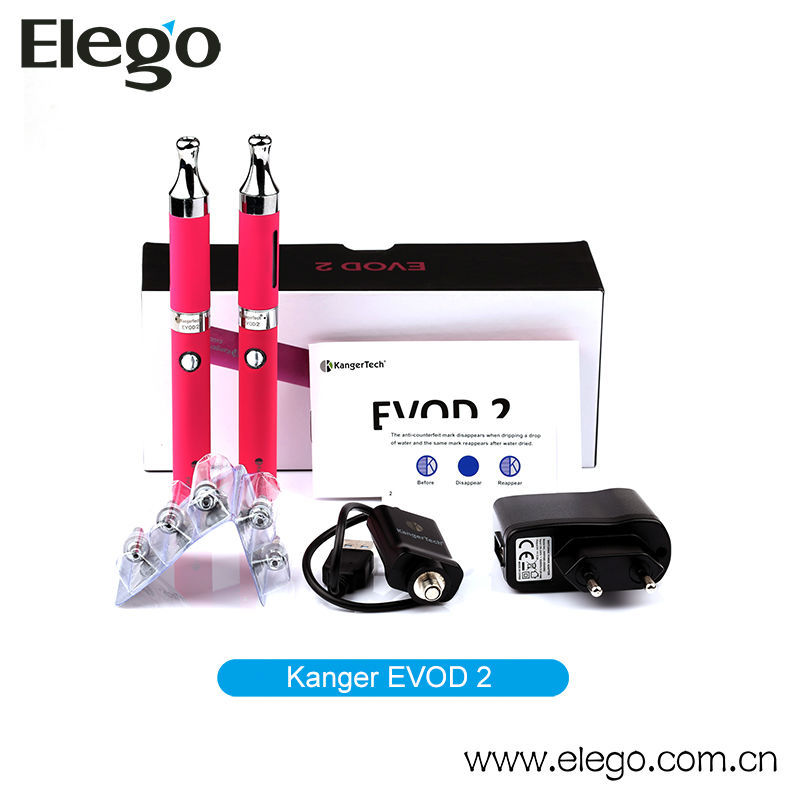 Evod Electronic Cigarette Refillable Evod Twist Vaporizer Pen Kanger Evod 2 Starter Kit