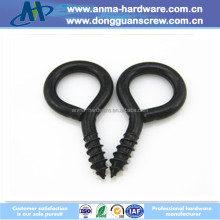 Black Round Hook Eye Screw for Furniture