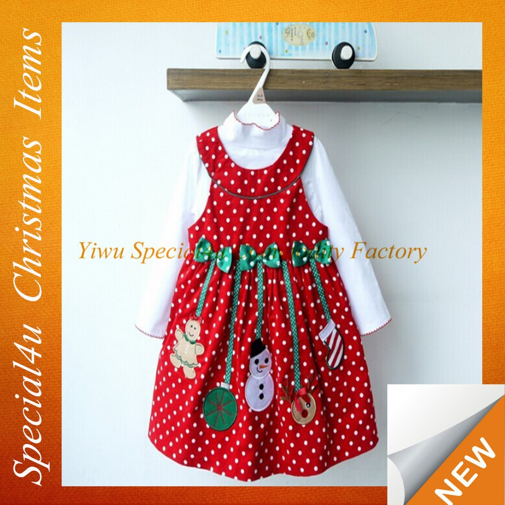 Fashion children christmas outfits/Two pieces christmas wear/girls christmas casual dress SFUC-055