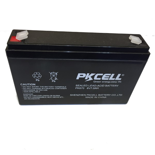 PKCELL Real Capacity Lead Acid Battery of 6V 7Ah (20HR) AGM Rechargeable Batteries for Motorcycle