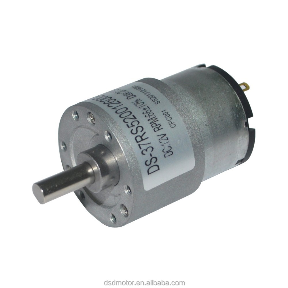 37mm 12v 24v Dc Electric Motor With Gear Reduction Buy Motor With Gear Reduciton 37mm Gear