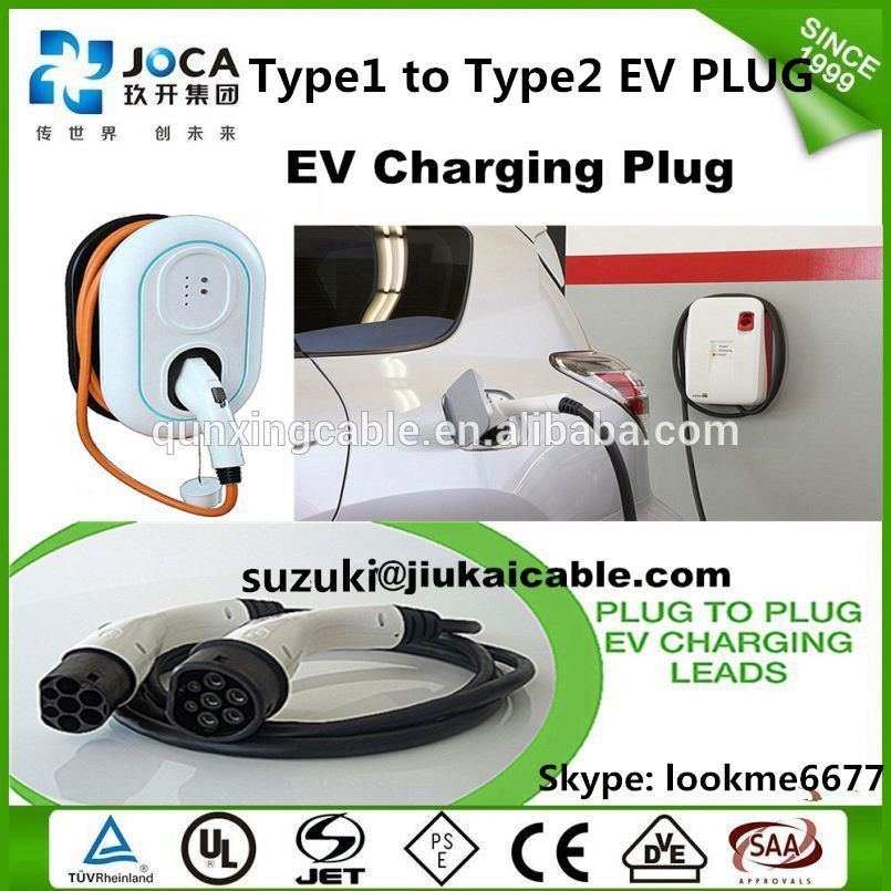 J1772 type 1 level 2 wall box ev charger 32a single phase ac charging station