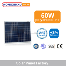 50W blue poly crystalline solar module panel with full power output