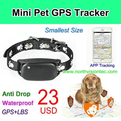 2 way audio Waterproof Anti-lost Pet GPS Tracker With Free Tracking APP