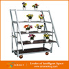3/4/5 tiers 4 wheels greenhouse metal plant flower pot display transportation cart trolley