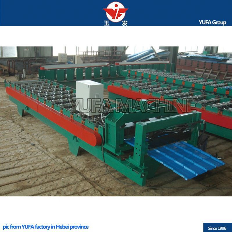 High speed steel structure building YUFA g1085 glazed tiles roll forming machine