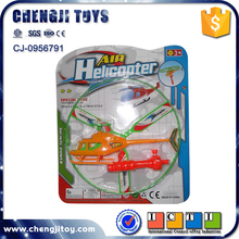 Cheap promotion plastic mini pull flying toy helicopters for kids