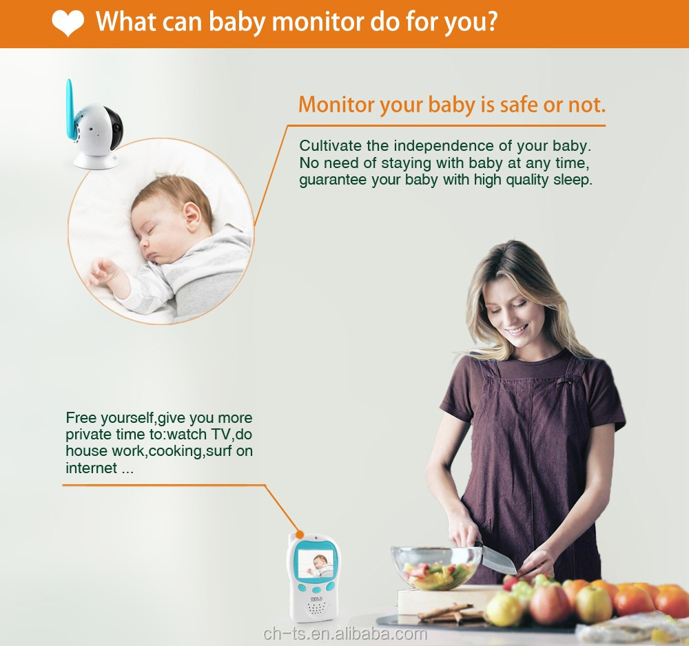 baby products sleep monitor digital infrared night vision wireless camera monitor