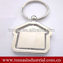Various house shaped promotion metal custom name keychains