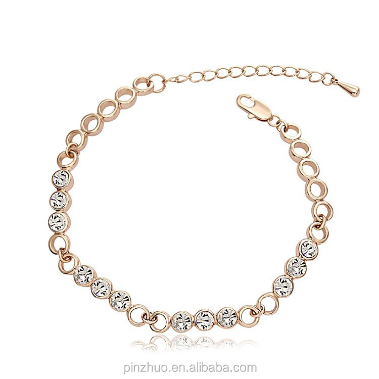 Hew Products for 2015,Elegence 18k Gold Crystal Charm Bracelets for Women