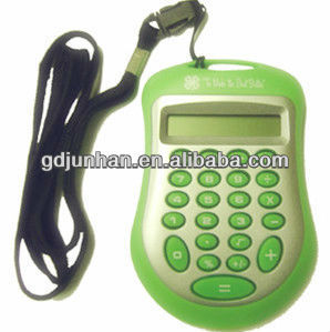 cheap 8 digit electronic calculator with lanyard