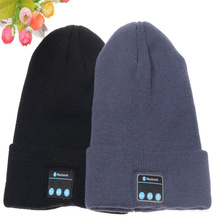 Knitting Pattern Unisex Music Wireless Custom Logo Winter Warm High Quality Bluetooth Beanie Hat