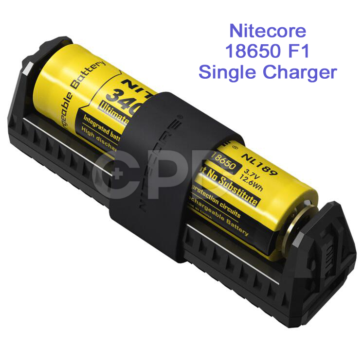 Wholesale & Retail Nitecore F1 Single Charger for 16350 17500 18650 26650 Series Li-ion Battery Travelmate Power Supply