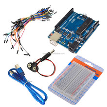 UNO R3 + breadboard 400 <strong>point</strong> + 9V battery snap Starter Learning Kit