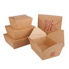 OEM accepted factory manufactured disposable paper lunch box