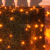 Holiday Time Random Twinkle LED Net Christmas Lights orange , 100 Count
