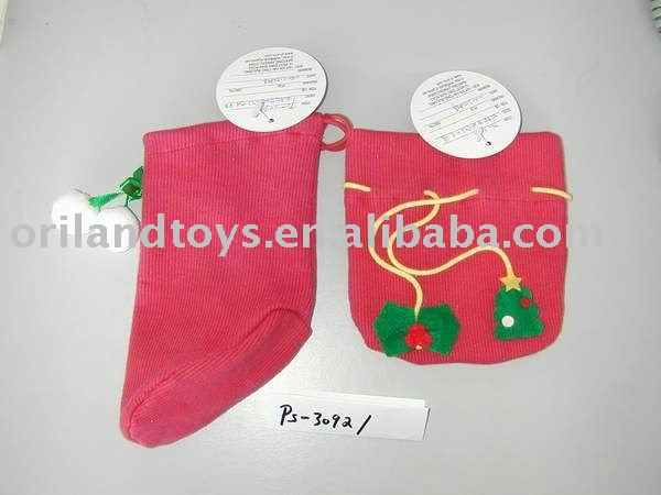 plush christmas socking