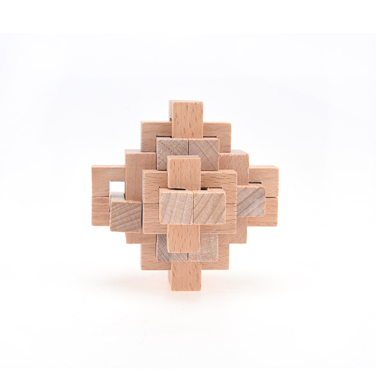 Intelligence Wooden Wood Pull-Apart 3D IQ Puzzle Brain Teaser Luban lock lock puzzle wooden toy