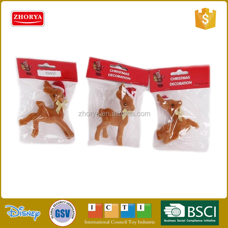 Zhorya funny deer wearing hat Christmas Decoration