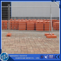 2.4x2.1m dimension, hot dipped galvanised temporary fence panels with clamps & concrete block & stay for Australia
