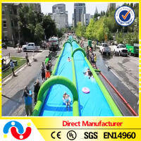 2015 PVC tarpaulin inflatable funny largest inflatable water slip slide the city
